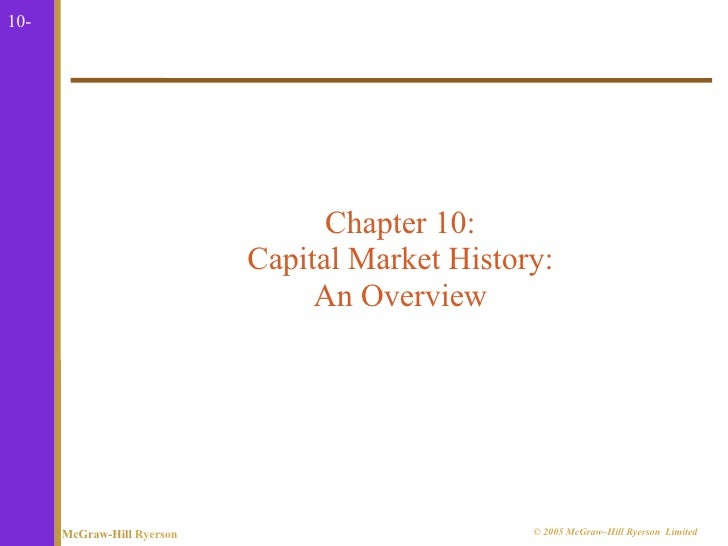 10-                                  Chapter 10:                            Capital Market History:                       ...