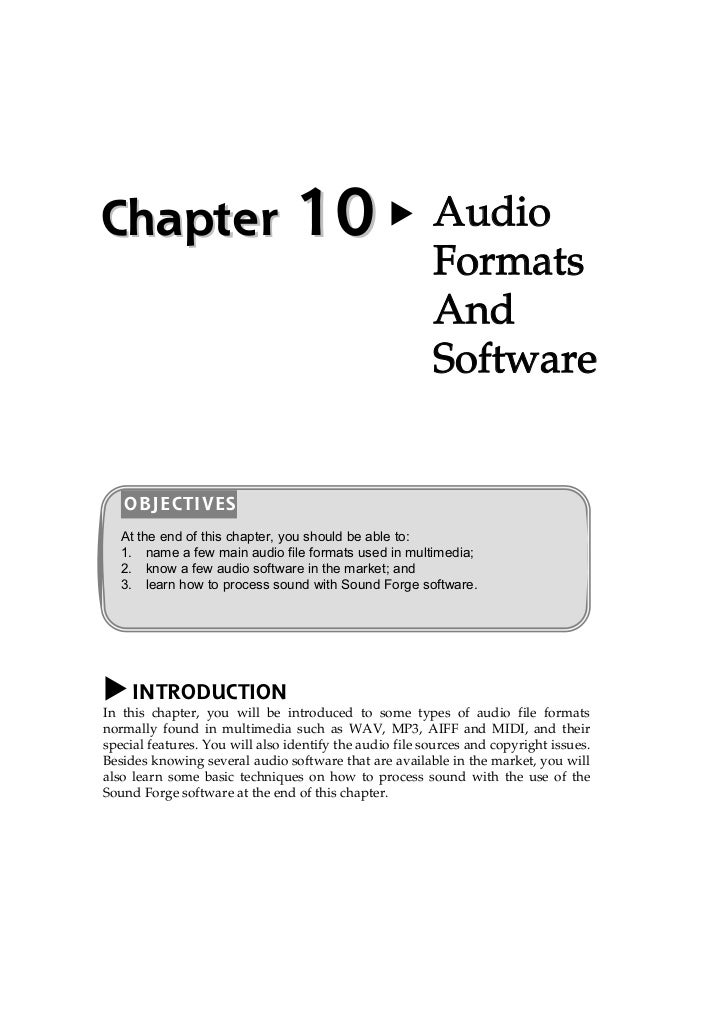 Chapter                          10                      Audio                                                         For...