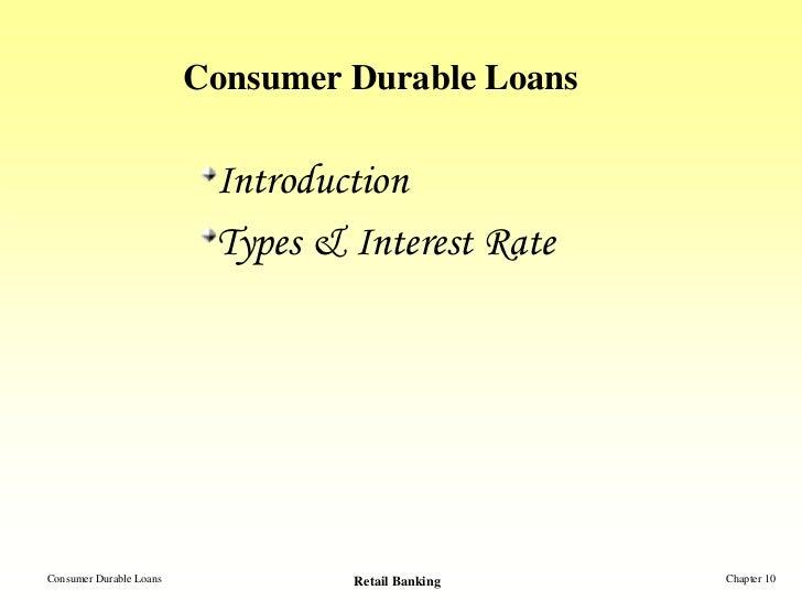 Consumer Durable Loans