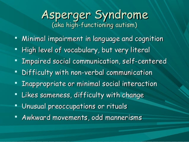 checklist symptoms Adult autism