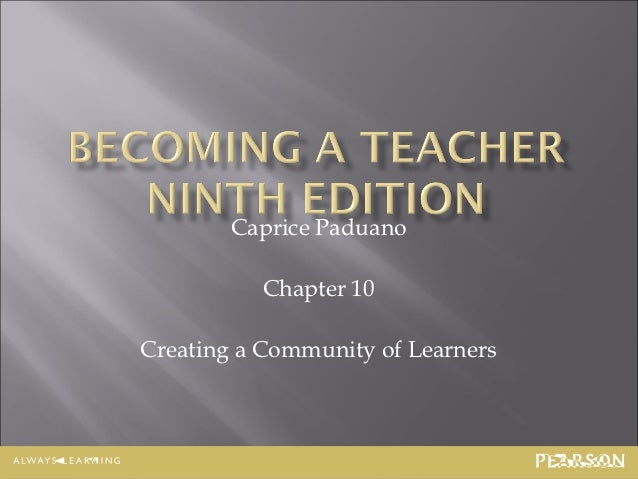 Introduction to Education, Chapter 10, Caprice Paduano