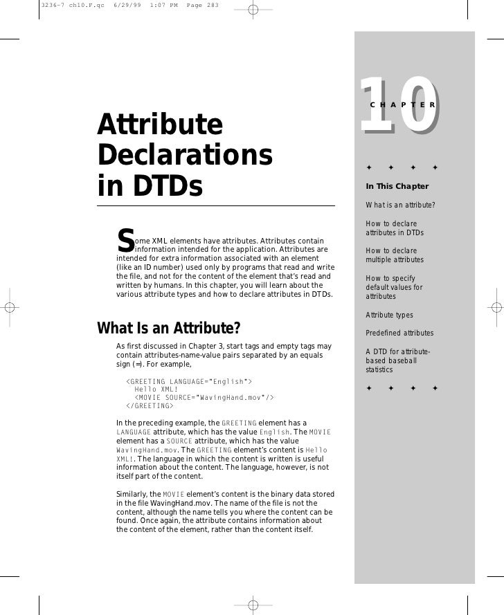 10                                                                       CHAPTER   Attribute Declarations                 ...