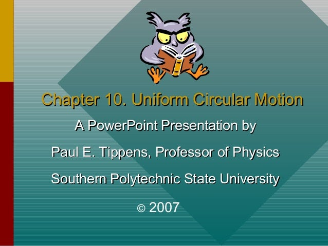 Chapter10 -circular motion