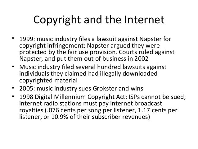 an argument against napster Details on the riaa suit against mp3 portal napster --- by mp3 newswire.