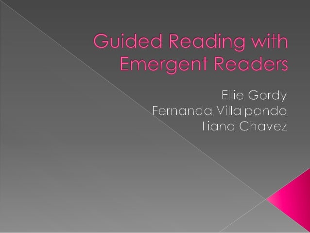 What does an emergent guided reading lesson look like?  What are the reading strategies that emergent readers use and do t...