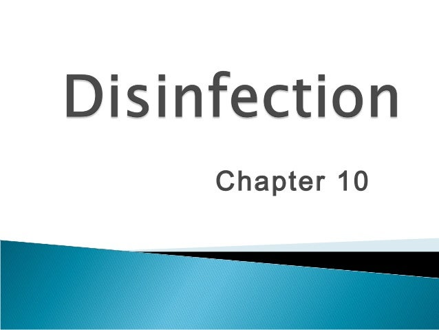 Chapter 10  disinfection