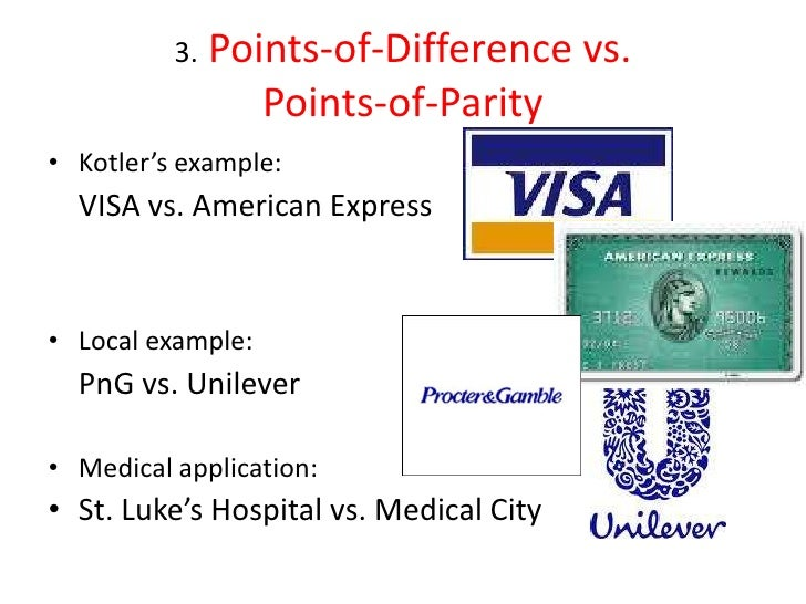 points of difference and points of parity