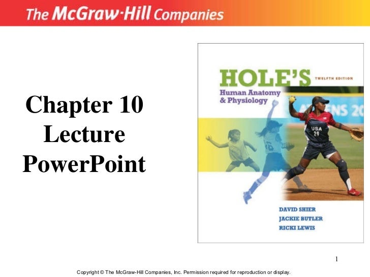 Copyright  ©  The McGraw-Hill Companies, Inc. Permission required for reproduction or display. Chapter 10 Lecture PowerPoint