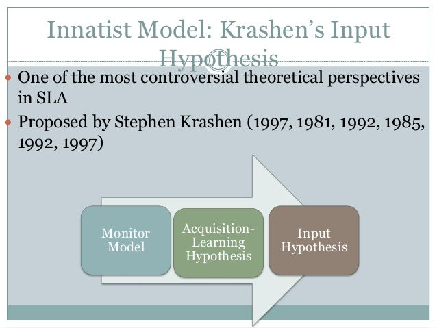 Krashen's Hypothesis Presentation by Eoin Daly on Prezi