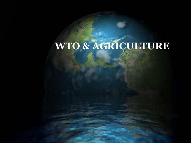 WTO – AGRICULTURE WTO & AGRICULTURE