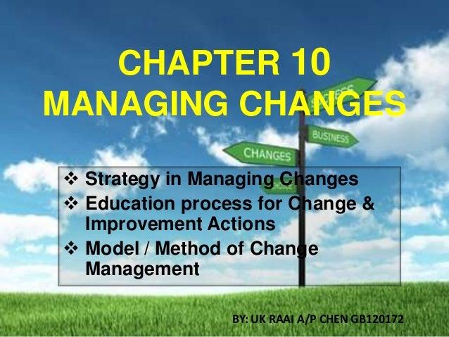 Chapter 10 Change Management