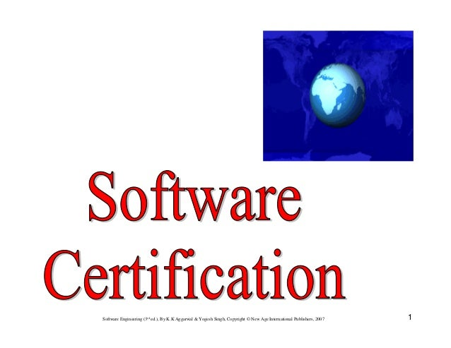 Chapter 10 software certification