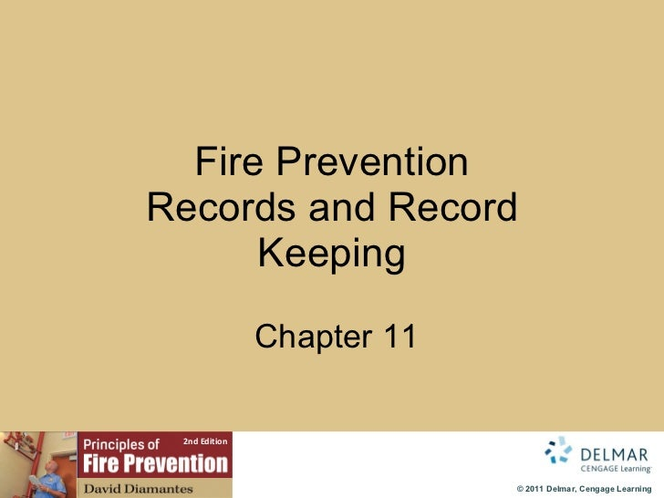 Fire Prevention Records and Record Keeping   Chapter 11