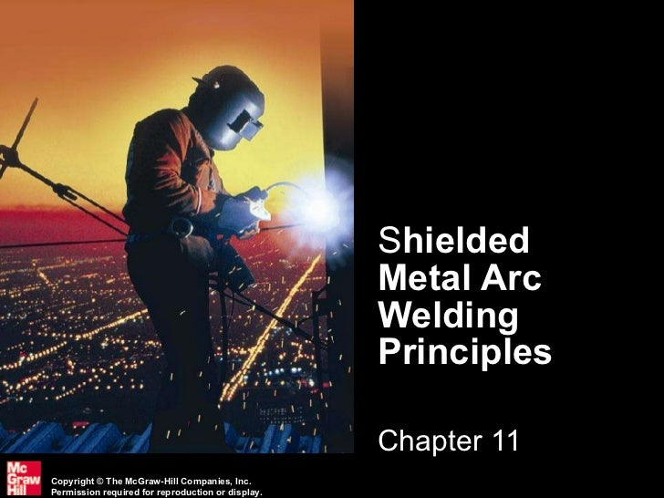 S hielded Metal Arc Welding Principles Chapter 11