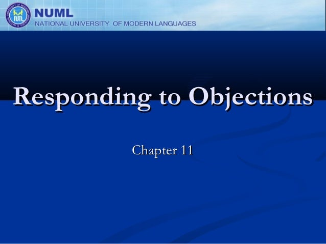 Responding to Objections         Chapter 11