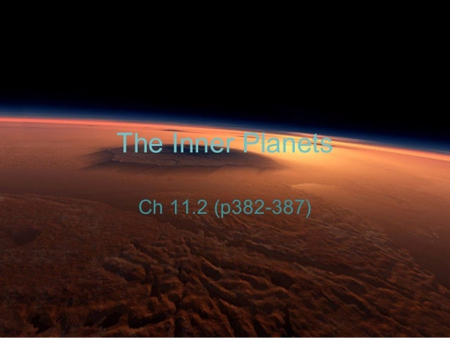Chapter 11.2: The Inner Planets