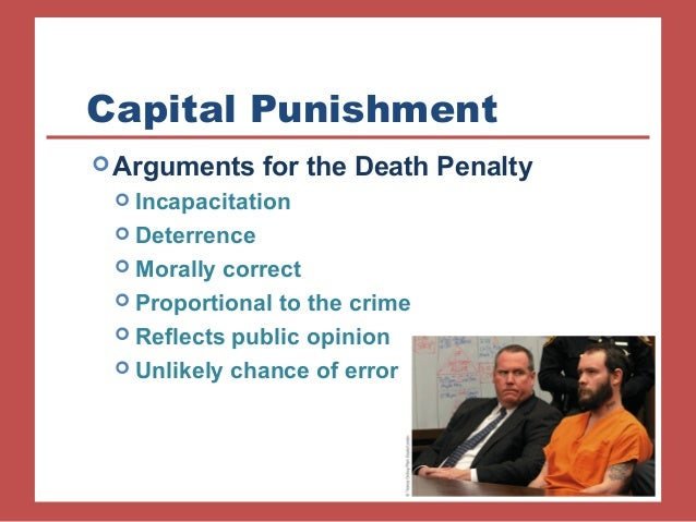 an argument against the use of death penalty to punish wrong doers The penalty of death by hl mencken of the arguments against capital punishment that issue from uplifters, two are commonly heard most often, to wit:.