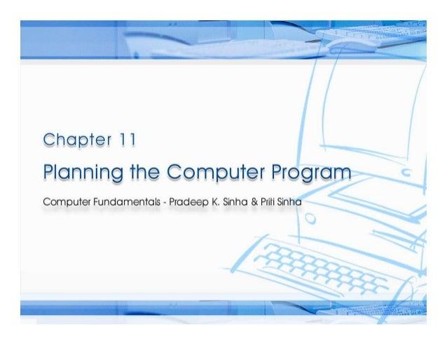 Computer Fundamentals Chapter 11 pcp