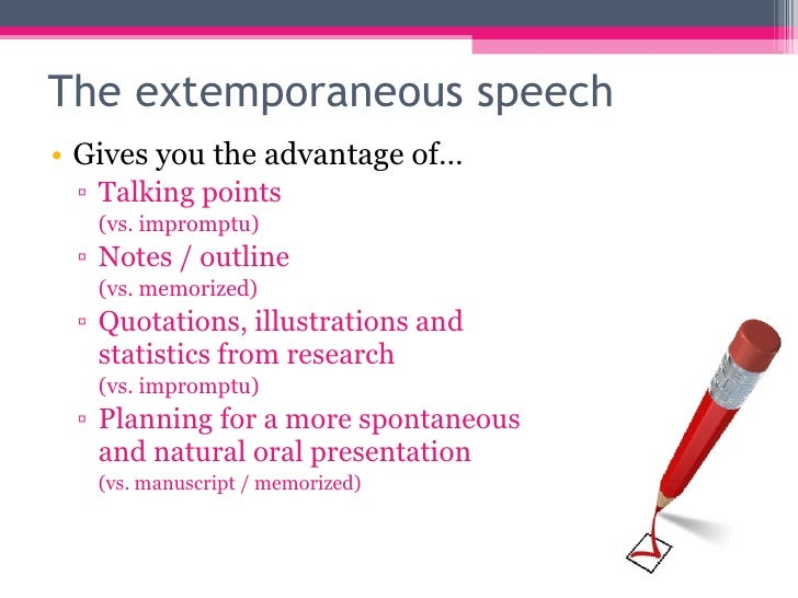 advantages of impromptu speech