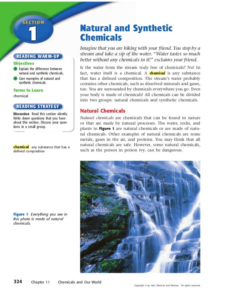 Chapter 11 Chemicals and Our World