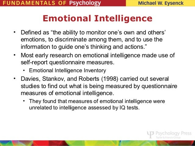 emotional intelligence ch 3 7 11 13 psychology summaries