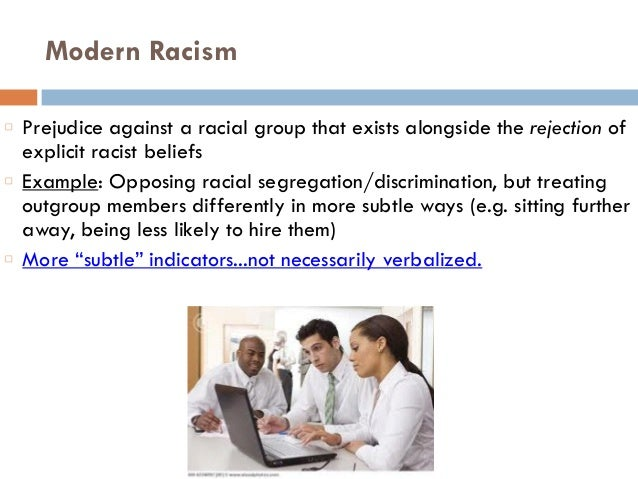 Essay about racism and prejudice in      Quality Management