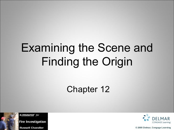 Examining the Scene and Finding the Origin   Chapter 12
