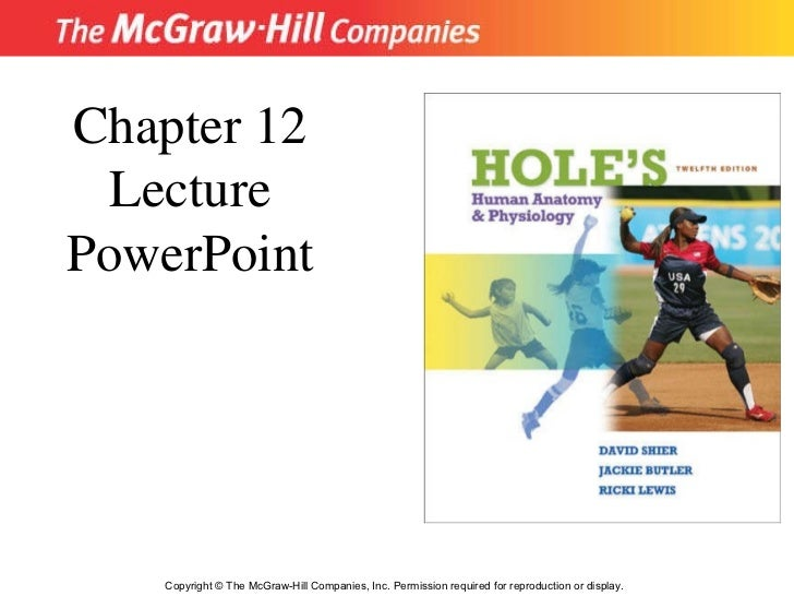 Copyright © The McGraw-Hill Companies, Inc. Permission required for reproduction or display. Chapter 12 Lecture PowerPoint