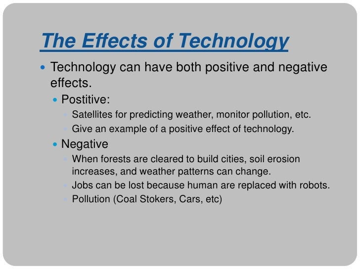 The Positive & Negative Effects of Technology in Business