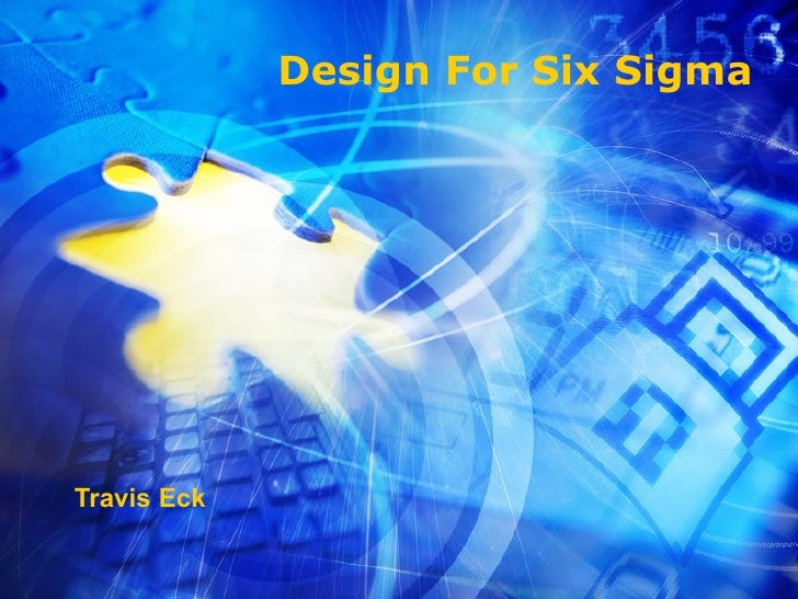 Design For Six Sigma Travis Eck