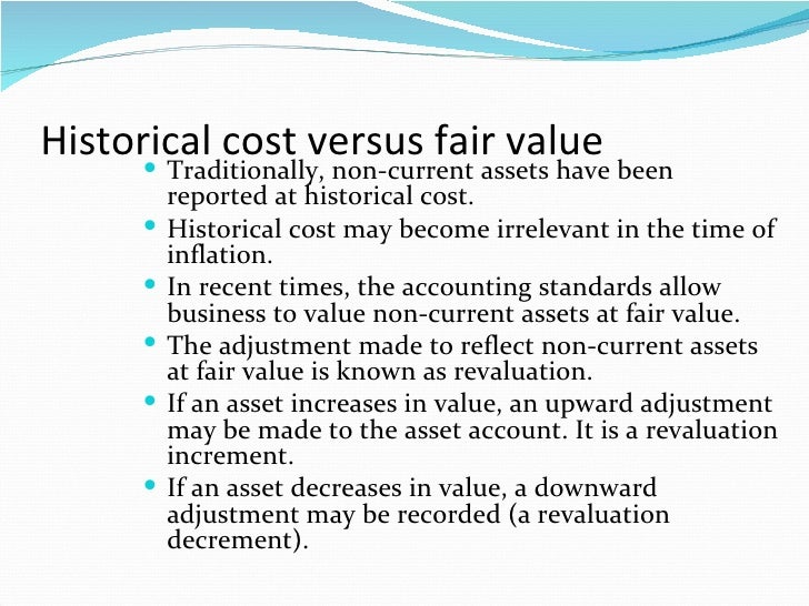 historical cost vs fair value essay