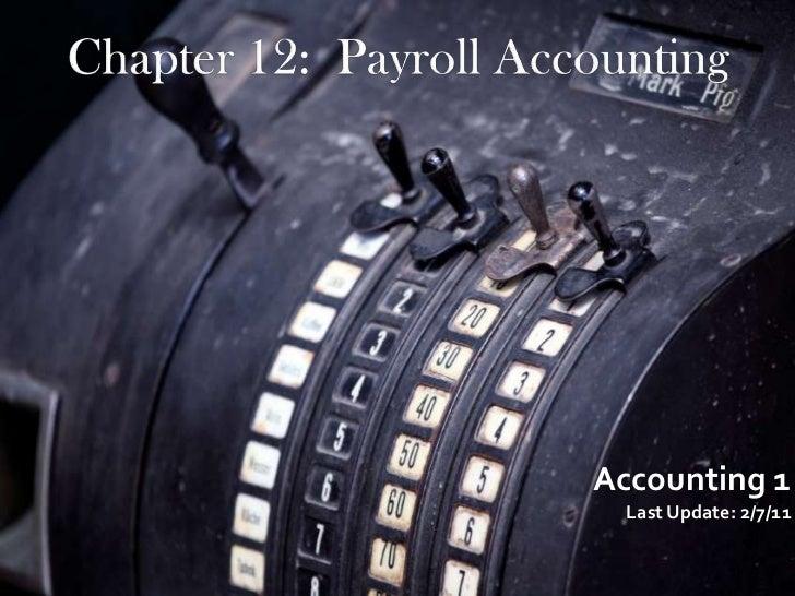 Accounting 1  Last Update: 2/7/11