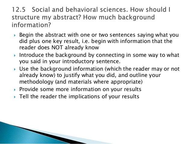 What is the abstract in a research paper