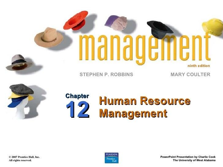 Chapter 12 Human Resource Management Ppt12