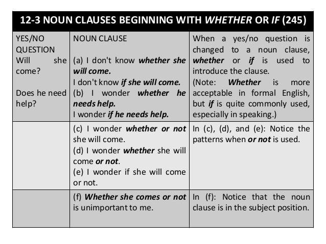 Noun Clauses help me please.?