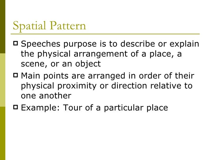 Spatial relationships definition