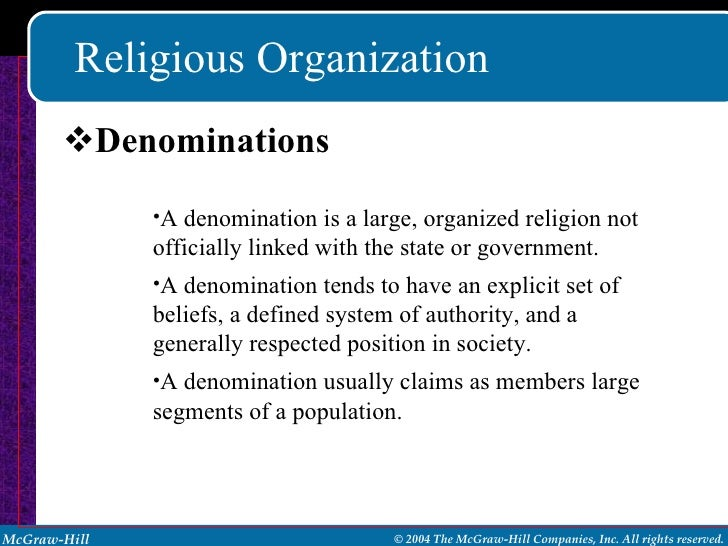 denomination meaning