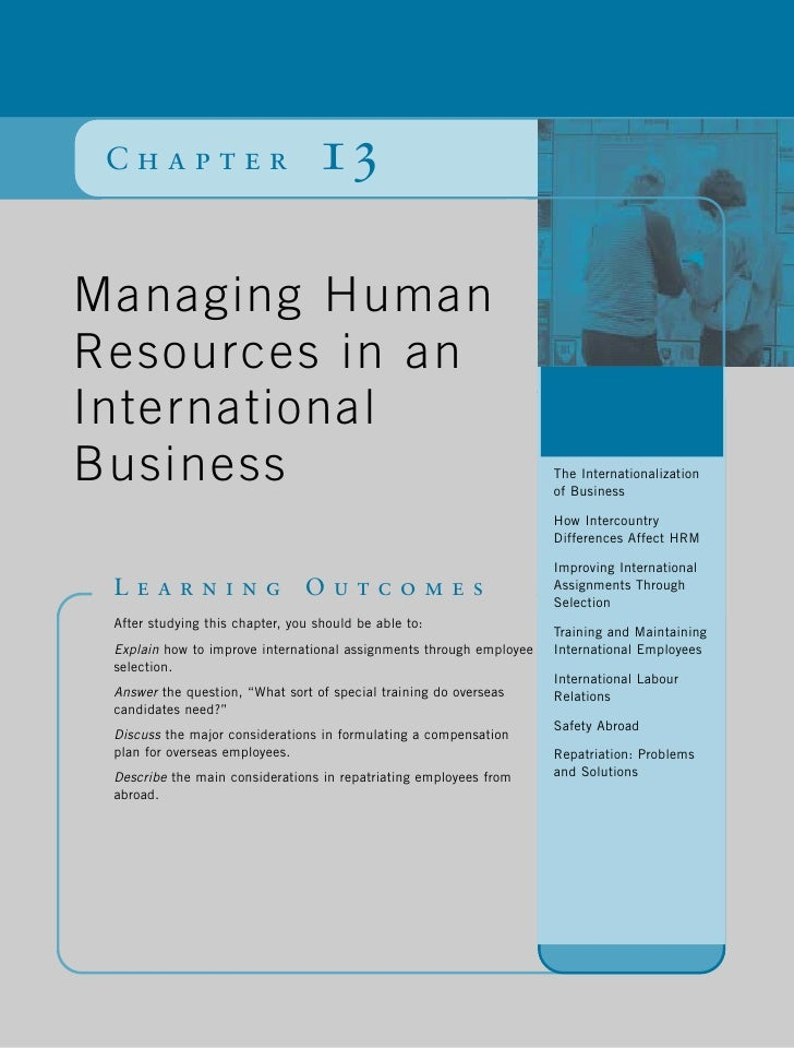 Chapter                          13Managing HumanResources in an                                                          ...