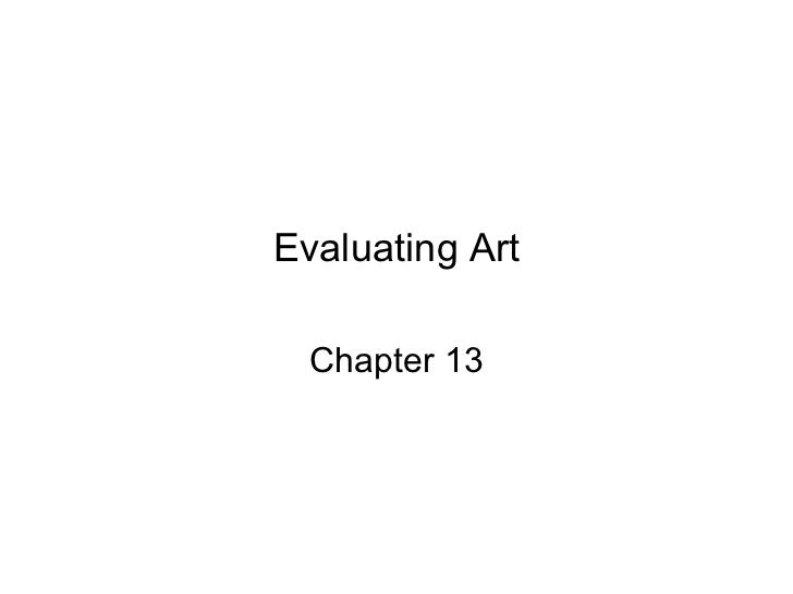 Evaluating Art Chapter 13