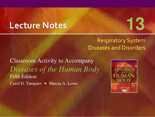 Lecture Notes                                      13                                        Respiratory System           ...