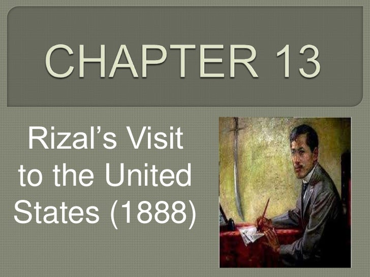 Rizal's visit to United States