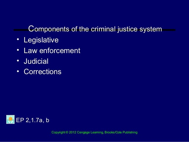 policies of two components of the criminal justice system Made by the office of national drug control policy the myth of a fair criminal justice system the criminal justice system is fair for example, two-thirds.