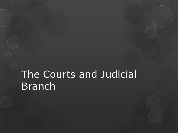 The Courts and Judicial Branch<br />