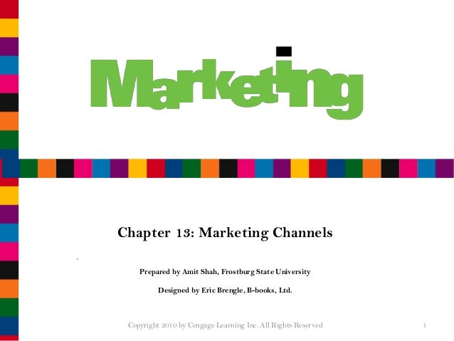 Shah Chapter 13 Marketing Channels