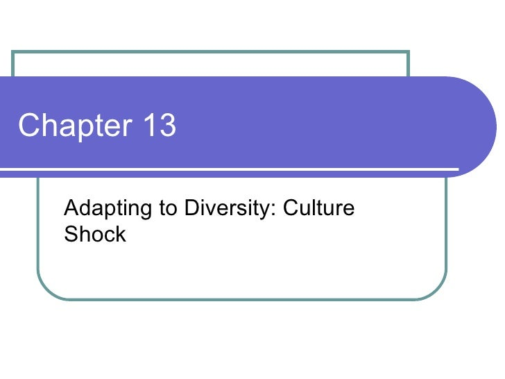 Chapter 13 Adapting to Diversity: Culture Shock