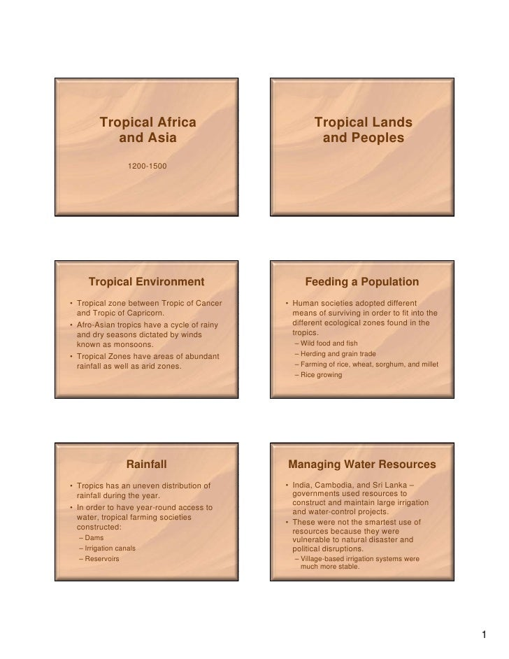 Tropical Africa                              Tropical Lands            and Asia                                   and Peop...