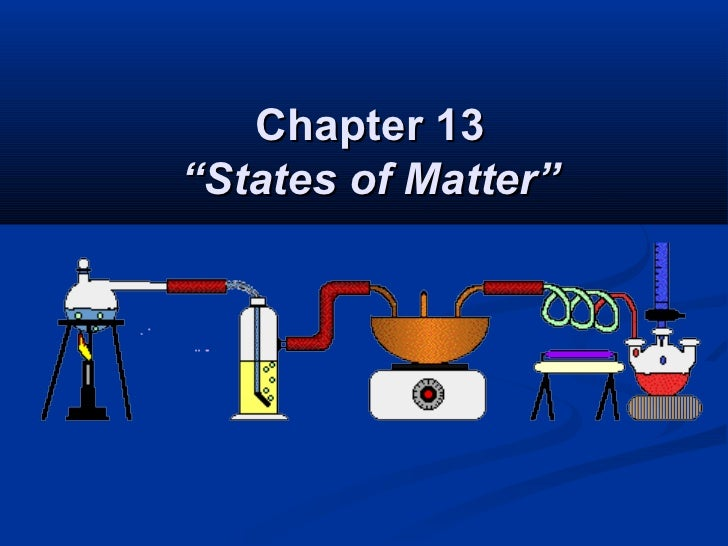 """Chapter 13""""States of Matter"""""""