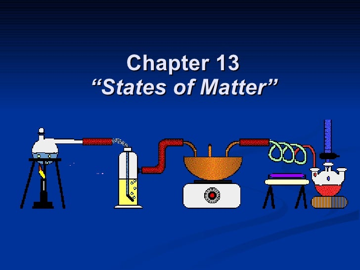 """Chapter 13 """"States of Matter"""""""