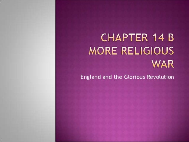 England and the Glorious Revolution