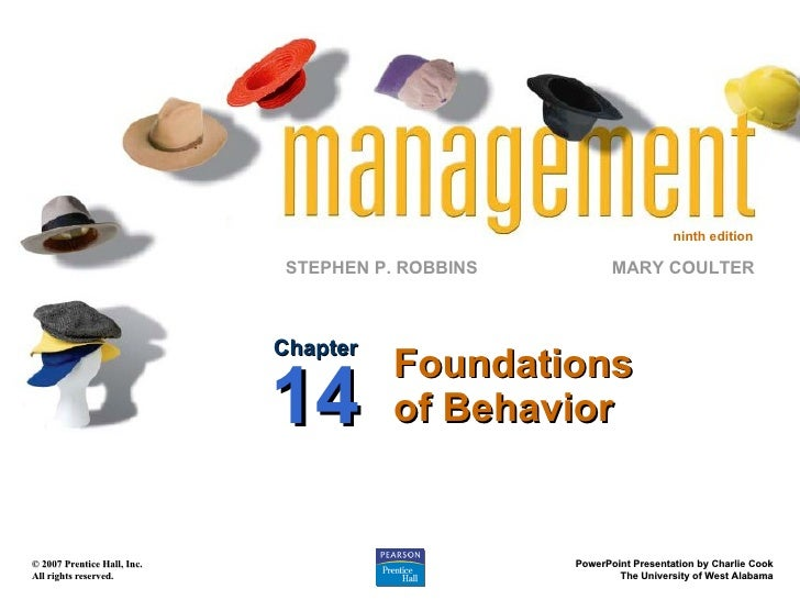Foundations of Behavior Chapter 14